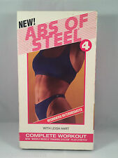 Abs of Steel 4 VHS Workout Video Intense Stomach Exercise Leisa Hart 1996