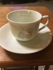 Vintage Precious Moments Tea Cup 1985 With Saucer