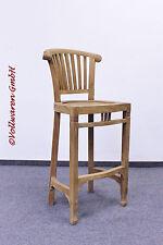 TEAK BARHOCKER SE28-1 Teakholz antik massiv Barstuhl Stuhl Bistrostuhl 110x42x46
