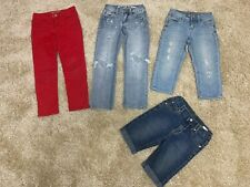 Lot of 4 Girls Jeans, Pants, Shorts, Size 6