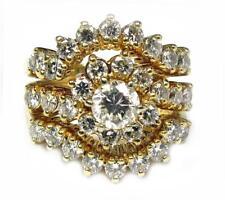Estate Women's Cocktail Engagement Ring 2.60CT Diamond 14K Yellow Gold 11.7g