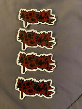 "Lot of (4) MY CHEMICAL ROMANCE 1 1/2"" x 2 1/2"" Band Sticker FAST! FREE SHIP!"