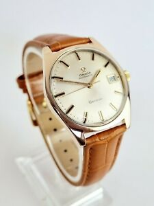 Outstanding Rose Gold 1968 Vintage Omega Geneve Automatic 135.070 Cal.601 Watch.