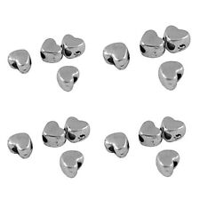 100 x Heart Tibetan Silver Metal Spacer Beads 4 mm