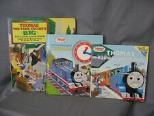 THOMAS TRAIN ENGINE - 3 SPECIAL BOOKS (LOOK & LIFT, CLOCK) & SIZE 2T T SHIRT