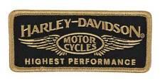 Harley-Davidson Aufnäher Highest Performance Schwarz/gold