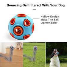 Food Dispenser Feeder Holder Rubber Bell Ball Pet Dog Chew Treat Trainning Toy