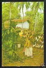 Devil Mask Dancer setting Fire Sri Lanka stamp
