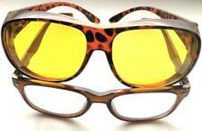 Nachtfahrbrille Überziehbrille Kontrast - Überbrille Auto Brille Farbe Leopard