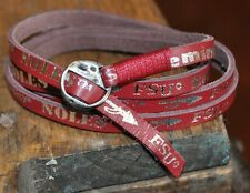 Florida State University LEATHER WRAP BRACELET -  FSU Seminoles Jewelry - Nice!