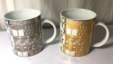 2 Mugs  Oro plata Tazas Gustav Klimt  Merchadising Museo - Art Nouveau Nuevos