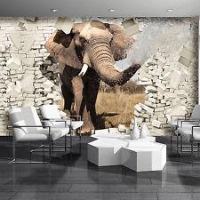 Wundervolle   FOTOTAPETE Wanddeko Tapete Steinoptik 15F0099140 Skulptur Elefant