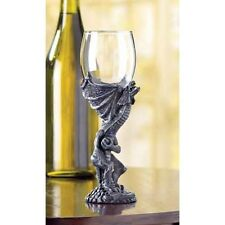 medieval DRAGON Gothic throne bar Goth Goblet Drink wine Glass ceremony statue