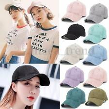 Unisex Men Women Faux Suede Baseball Cap Visor Snapback Sun Adjustable Hat