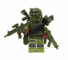 Green Commando Army Soldier Minifigure (SKU27) made with real LEGO® minfigure