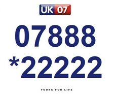 07888 *22222 Numbers - Gold Easy Memorable Business Platinum VIP Mobile Numbers