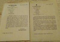 1869 LOTTO DI CIRCOLARI DA LECCE SU VAIOLO UMANO, VAIOLO OVINO E VACCINAZIONI