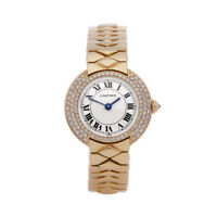 CARTIER VENDOME DIAMOND YELLOW GOLD WATCH W15071G8 OR 1292 26MM COM1888