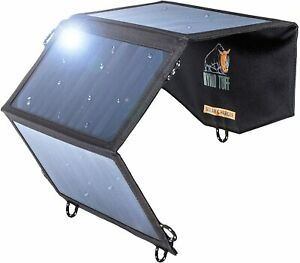 Ryno-Tuff Portable Solar Charger for Camping - 21W Foldable Solar Panel Charger