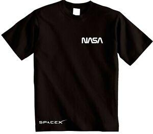 NASA SpaceX T-shirt HIPSTER retro SPACE top GEEK NERD SLOGAN Elon Musk Telsa tee