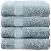 4-Piece Bath Towels Set for Bathroom | 100% Soft Cotton Turkish Towels - L. Blue