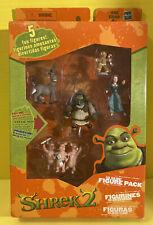 Shrek 2 Far Far Away 5 Mini Figure Toy Set Knight Donkey Fiona Pigs Full Set