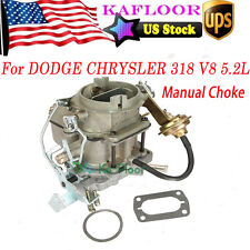 Carburetor Lowtop Fits Chrysler Dodge 318 Engine BBD 2 BBL V8 5.2 Manual Choke