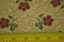 By 1/2 Yd, Floral on Tan, Quilting, Kansas Troubles Quilters, Moda, M7073