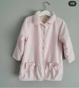 Emile et rose Baby Girl 24months 2years Spanish Style Bow Pink Coat