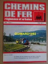 Chemins de fer régionaux et urbains n°209 septembre 1988 De Sens à Egreville