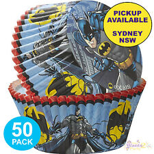 BATMAN PARTY SUPPLIES 50 CUPCAKE BAKING CUPS SUPERHERO CAKE PATTY PANS LINERS