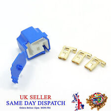 Ceramic 3 Pin H4 Bulb Holder and 3 Terminals Connector Housing + COVER