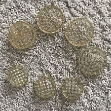 Lot 7 Vintage Plastic Flower Frogs Round Circular Pin Floral Arranging 2 Sizes