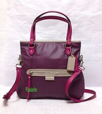 Coach 23911 Daisy Spectator Leather Mia 2-Way Bag Purse PURPLE Magenta Multi NWT