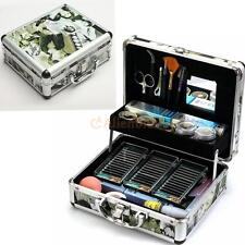 Pro High-quality False Eye Lash Fake Eyelash Extension Full Kit Set With Case US