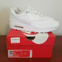 Nike Air Max 1 GS Youth Shoes White/Vast Grey 807605-105 Size 7Y/Women's 8.5