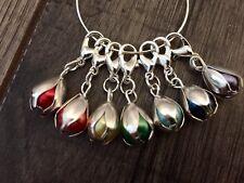 Marcadores de punto de ganchillo/tejer, chakra del Arco Iris Flor Bud