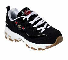 Skechers D'LITES - ROSE BLOOMS 13084Bkw BLACK Trainer