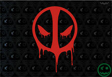 DEADPOOL Sticker Reflective Red 130mmH Car Var Ute JDM Console Movie Marvel