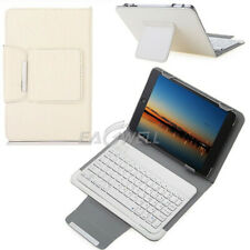 "White For Universal 9.7"" 10"" 10.1"" Tablet Keyboard Universal Leather Case Cover"