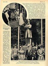Von der Enthüllung des Denkmals für Friedrich von Esmarch in Tönning Der...1905