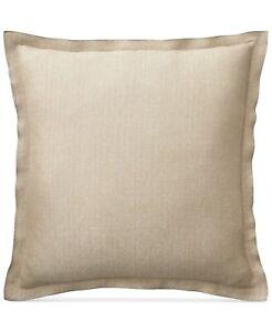 """Lauren Ralph Lauren Metallic Herringbone 20"""" Linen Decorative Pillow - Silver"""