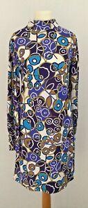 True Vintage 60's 'Toplet' Women's Funnel Neck Long Sleeve Mini Dress Size 10