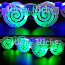 Light-Up Nerd Hipster Round LED Glasses Bookworm Geek Flashing Sunglasses Raves