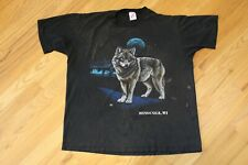 Vintage 1992 Coyote Moon T-shirt Size Xl Black Tee Vtg 90s Trashed Faded Holes
