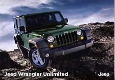 Jeep Wrangler Unlimited 2015 catalogue brochure rare
