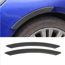 2Pcs Carbon Fiber Car SUV Side Fender Panel Protector Sticker Scratch Decoration