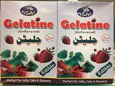 Asal Halal Gelatine Powder 50grams X 12 Packets Beef Gelatine -