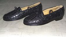 NICE!!! $895 Zelli Genuine Crocodile Alligator Moccasin Loafers Shoes Boots Polo