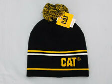Caterpillar Vintage Snow Cap Beanie CAT Pom hat Black NWT One Size Winter